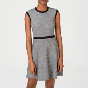 Club Monaco Knit Fit and Flare Dress Grey NWOT Sz L